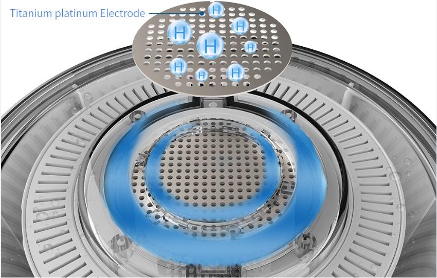 Titanium-platinum-electrode